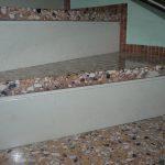 Scala in Veneziana con alzata in marmo Bianco Asiago - Particolare